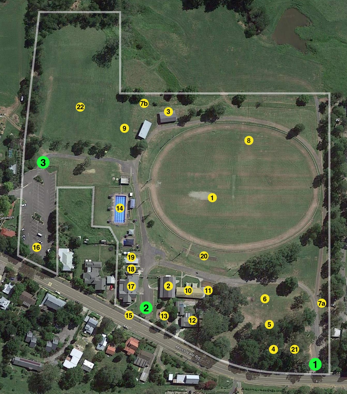 Kangaroo Valley Showground Map